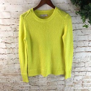 Ann Taylor LOFT Mock Neck Knit Neon Sweater